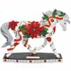 Horse of a Different Color Poinsettia Holiday Arabian Horse Figurine