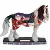 Horse of a Different Color Holiday 2014 Santa Cardinals Clydesdale Figurine
