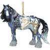 Horse of A Different Color Woodland Santa Clydesdale Ornament with Tin