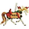 Horse of A Different Color Noel Arabian Ornament with Tin