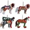 Horse of a Different Color Holiday 2014 Set of 4 Ornaments with Tin Presale