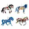 Horse of a Different Color Holiday 2015 Set of 4 Ornaments with Tins