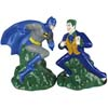 Westland Giftware Retired Batman vs the Joker Magnetic Ceramic Salt and Pepper Shakers Set