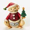Jim Shore Mini Christmas Cat Figurine