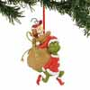 Department 56 Classic Dr. Seuss Grinch Santy Santa Claus Stowaways 4.5