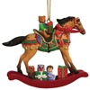 Painted Ponies Dillard's 2017 Holiday Exclusive Christmas Morn' Rocking Horse 2.75