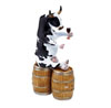 CowParade Enjoying a Tipple Holstein Resin Cow Figurine