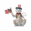 Jim Shore Heartwood Creek Pint Size American Patriotic Cat 5