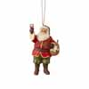 Jim Shore Heartwood Creek Holiday Vinyard Santa with Wine  4.5