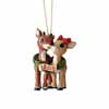 Jim Shore Heartwood Creek Rudolph Traditions Rudolph with Clarice 2018 Dated 4.5