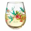 Lolita Glassware Hummingbird Stemless Hand-Painted Blown Glass Stemless Wineglass