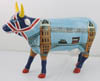 CowParade Retired European Exclusive Cower Bridge Ceramic Figurine