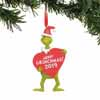 Department 56 Classic Dr. Seuss Grinch with Heart Dated 4.5