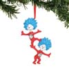 Department 56 Dr. Seuss Thing 1 Thing 2 Hand-Painted Hanging Ornament