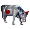 CowParade Wizard of Oz Retired Tin Man Cow Collectible 4