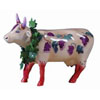 CowParade Retired Fine Wine Bovine Ceramic Kitchen Decor Cow Figurine
