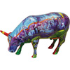 CowParade Retired Van Gogh's Red Rock & Las Vegas Medium Ceramic Cow Figurine
