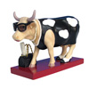CowParade Fashion-a-bull Diva Hand-Painted Resin Cow Figurine