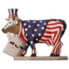 CowParade Retired Uncle Sam Chicago Cow Figurine