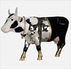 CowParade Retired Disco Cow Resin Figurine