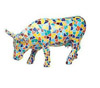 CowParade Kansas City Moozaic Multicolored Collectible Resin Cow Figurine