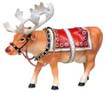 CowParade Moodolph Holiday Reindeer Cow Figurine