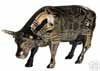 CowParade Retired Tattooed Bovine Medium Gold & Black Ceramic Collectible 4