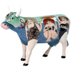 CowParade Fun Seeker Ceramic Cow Figurine