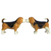 Westland Giftware Mwah! Magnetic Beagles Kissing Ceramic Salt & Pepper Shakers Set