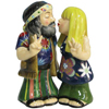 "Westland Giftware Mwah! Kissing Hippie Couple 4"" Magnetic Salt and Pepper Shakers"