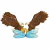 Mwah! Bald Eagles Fishing Magnetic Salt and Pepper Shakers