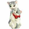 Mwah! Cat & Kitten Magnetic Salt and Pepper Ceramic Shakers