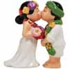 Mwah! Hawaiian Bride and Groom Kissing Couple Magnetic 4