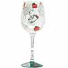 Lolita Love My Wine Retired Hand-Painted Santa's Got Mail  Collectible Wine Glass in Gift Box