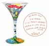 Lolita Love My Martini Retired Hand-Painted Atlanta-tini Collectible Cocktail Glass in Gift Gift Box