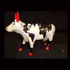 CowParade Retired European Exclusive Mercator Ceramic Continent Cow Figurine