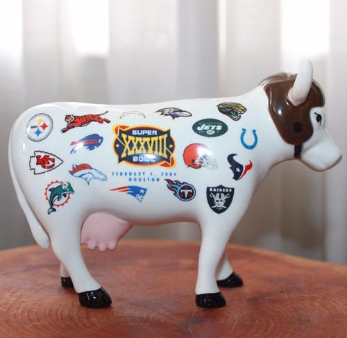 CowParade Super Bowl 2004 Limited Edition Medium Sized 4